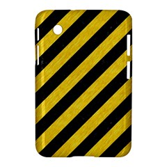 Stripes3 Black Marble & Yellow Colored Pencil (r) Samsung Galaxy Tab 2 (7 ) P3100 Hardshell Case  by trendistuff