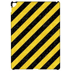 Stripes3 Black Marble & Yellow Colored Pencil (r) Apple Ipad Pro 12 9   Hardshell Case