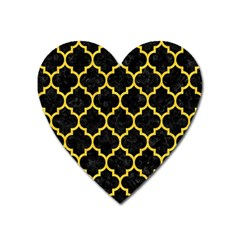 Tile1 Black Marble & Yellow Colored Pencil (r) Heart Magnet by trendistuff