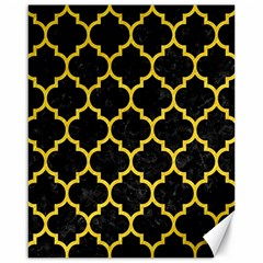 Tile1 Black Marble & Yellow Colored Pencil (r) Canvas 16  X 20   by trendistuff