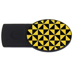 Triangle1 Black Marble & Yellow Colored Pencil Usb Flash Drive Oval (4 Gb) by trendistuff
