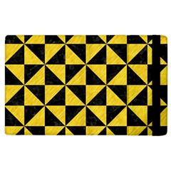 Triangle1 Black Marble & Yellow Colored Pencil Apple Ipad 2 Flip Case by trendistuff