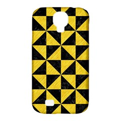 Triangle1 Black Marble & Yellow Colored Pencil Samsung Galaxy S4 Classic Hardshell Case (pc+silicone) by trendistuff
