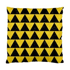 Triangle2 Black Marble & Yellow Colored Pencil Standard Cushion Case (one Side) by trendistuff
