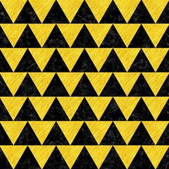Triangle2 Black Marble & Yellow Colored Pencil Magic Photo Cubes by trendistuff