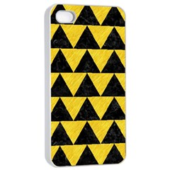 Triangle2 Black Marble & Yellow Colored Pencil Apple Iphone 4/4s Seamless Case (white) by trendistuff
