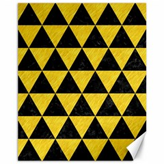 Triangle3 Black Marble & Yellow Colored Pencil Canvas 11  X 14   by trendistuff