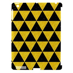 Triangle3 Black Marble & Yellow Colored Pencil Apple Ipad 3/4 Hardshell Case (compatible With Smart Cover) by trendistuff