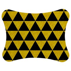 Triangle3 Black Marble & Yellow Colored Pencil Jigsaw Puzzle Photo Stand (bow)