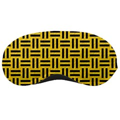 Woven1 Black Marble & Yellow Colored Pencil Sleeping Masks by trendistuff