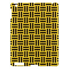 Woven1 Black Marble & Yellow Colored Pencil Apple Ipad 3/4 Hardshell Case by trendistuff