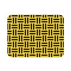 Woven1 Black Marble & Yellow Colored Pencil Double Sided Flano Blanket (mini)  by trendistuff