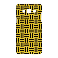 Woven1 Black Marble & Yellow Colored Pencil Samsung Galaxy A5 Hardshell Case  by trendistuff