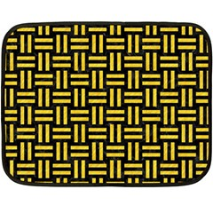 Woven1 Black Marble & Yellow Colored Pencil (r) Fleece Blanket (mini) by trendistuff