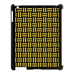 Woven1 Black Marble & Yellow Colored Pencil (r) Apple Ipad 3/4 Case (black) by trendistuff