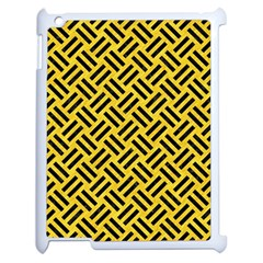 Woven2 Black Marble & Yellow Colored Pencil Apple Ipad 2 Case (white)