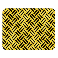 Woven2 Black Marble & Yellow Colored Pencil Double Sided Flano Blanket (large)  by trendistuff