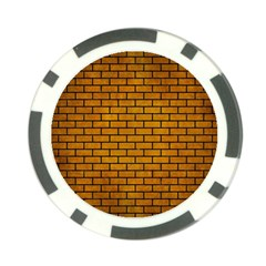 Brick1 Black Marble & Yellow Grunge Poker Chip Card Guard (10 Pack) by trendistuff