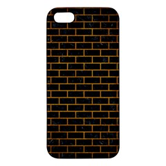 Brick1 Black Marble & Yellow Grunge (r) Apple Iphone 5 Premium Hardshell Case by trendistuff
