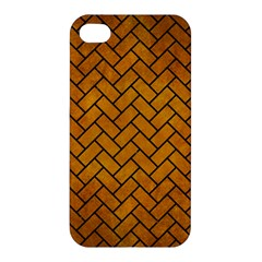 Brick2 Black Marble & Yellow Grunge Apple Iphone 4/4s Hardshell Case