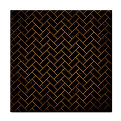 Brick2 Black Marble & Yellow Grunge (r) Face Towel by trendistuff