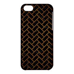 Brick2 Black Marble & Yellow Grunge (r) Apple Iphone 5c Hardshell Case by trendistuff