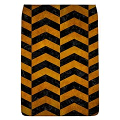 Chevron2 Black Marble & Yellow Grunge Flap Covers (l)  by trendistuff