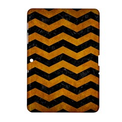 Chevron3 Black Marble & Yellow Grunge Samsung Galaxy Tab 2 (10 1 ) P5100 Hardshell Case  by trendistuff