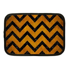 Chevron9 Black Marble & Yellow Grunge Netbook Case (medium)  by trendistuff