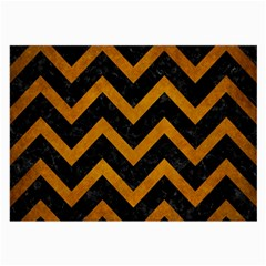 Chevron9 Black Marble & Yellow Grunge (r) Large Glasses Cloth (2 Side) by trendistuff