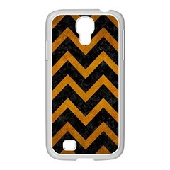 Chevron9 Black Marble & Yellow Grunge (r) Samsung Galaxy S4 I9500/ I9505 Case (white) by trendistuff