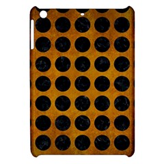 Circles1 Black Marble & Yellow Grunge Apple Ipad Mini Hardshell Case by trendistuff