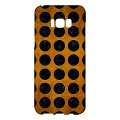 Circles1 Black Marble & Yellow Grunge Samsung Galaxy S8 Plus Hardshell Case  by trendistuff