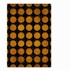 Circles1 Black Marble & Yellow Grunge (r) Small Garden Flag (two Sides) by trendistuff