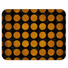 Circles1 Black Marble & Yellow Grunge (r) Double Sided Flano Blanket (medium)  by trendistuff