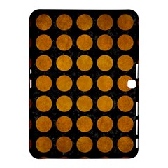 Circles1 Black Marble & Yellow Grunge (r) Samsung Galaxy Tab 4 (10 1 ) Hardshell Case  by trendistuff