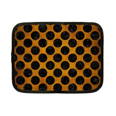 Circles2 Black Marble & Yellow Grunge Netbook Case (small)  by trendistuff