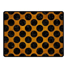Circles2 Black Marble & Yellow Grunge Fleece Blanket (small) by trendistuff
