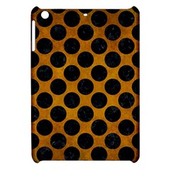 Circles2 Black Marble & Yellow Grunge Apple Ipad Mini Hardshell Case by trendistuff
