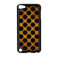 Circles2 Black Marble & Yellow Grunge Apple Ipod Touch 5 Case (black) by trendistuff