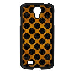 Circles2 Black Marble & Yellow Grunge Samsung Galaxy S4 I9500/ I9505 Case (black) by trendistuff