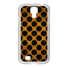 Circles2 Black Marble & Yellow Grunge Samsung Galaxy S4 I9500/ I9505 Case (white) by trendistuff
