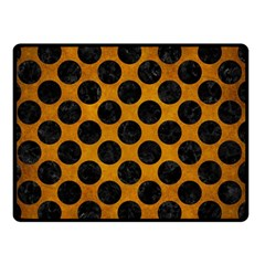 Circles2 Black Marble & Yellow Grunge Double Sided Fleece Blanket (small)  by trendistuff