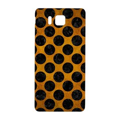 Circles2 Black Marble & Yellow Grunge Samsung Galaxy Alpha Hardshell Back Case by trendistuff