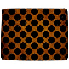 Circles2 Black Marble & Yellow Grunge Jigsaw Puzzle Photo Stand (rectangular) by trendistuff