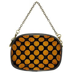 Circles2 Black Marble & Yellow Grunge (r) Chain Purses (two Sides)  by trendistuff