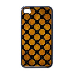 Circles2 Black Marble & Yellow Grunge (r) Apple Iphone 4 Case (black) by trendistuff