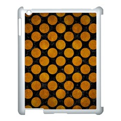 Circles2 Black Marble & Yellow Grunge (r) Apple Ipad 3/4 Case (white) by trendistuff