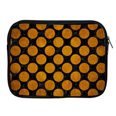 Circles2 Black Marble & Yellow Grunge (r) Apple Ipad 2/3/4 Zipper Cases by trendistuff