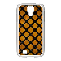 Circles2 Black Marble & Yellow Grunge (r) Samsung Galaxy S4 I9500/ I9505 Case (white) by trendistuff